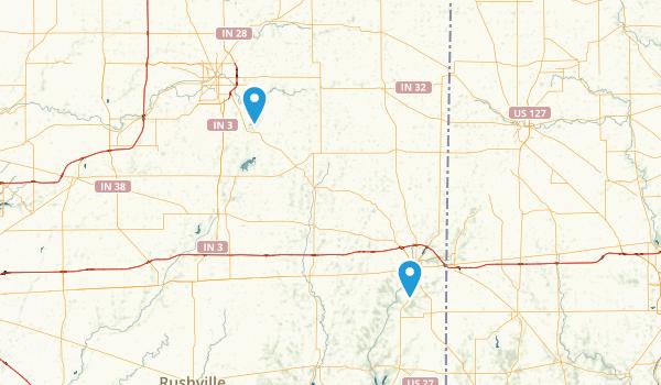Muncie, Indiana Map
