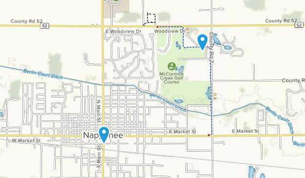 Nappanee, Indiana Map