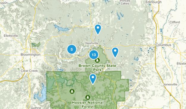 Nashville, Indiana Map