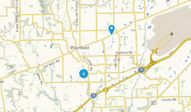 Plainfield, Indiana Map
