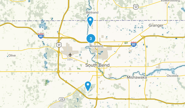 South Bend, Indiana Map