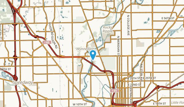 Wynnedale, Indiana Map