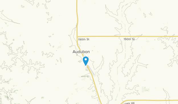 Audubon, Iowa Map