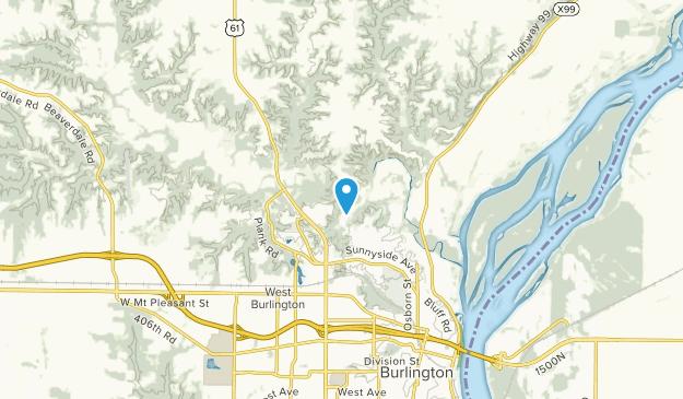 Burlington, Iowa Map