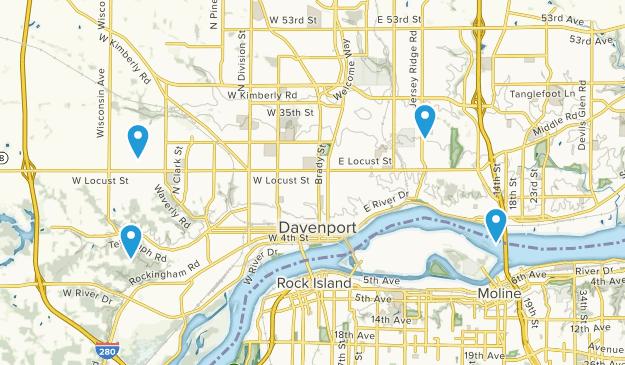Davenport, Iowa Map