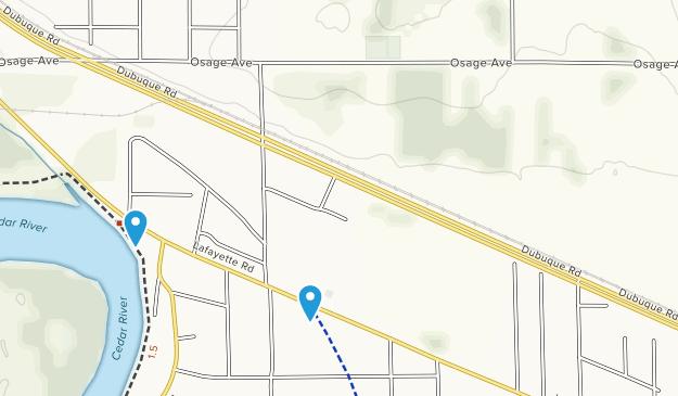 Evansdale, Iowa Map