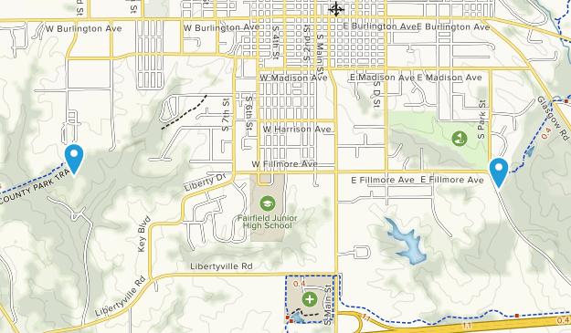 Fairfield, Iowa Map