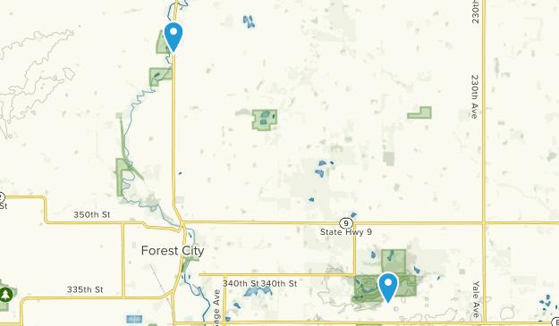 Forest City, Iowa Map