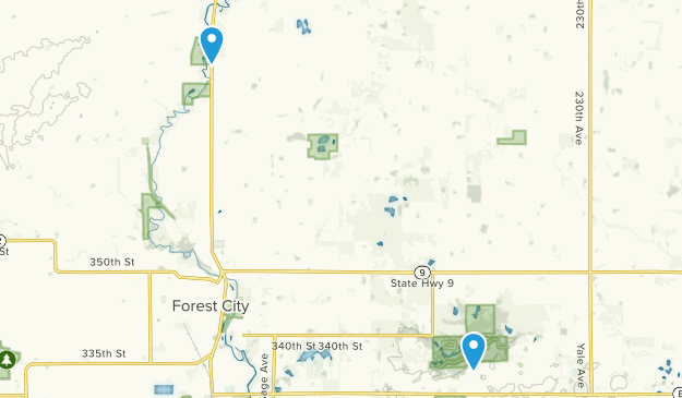 State Of Iowa Map With Cities.Best Trails Near Forest City Iowa Alltrails