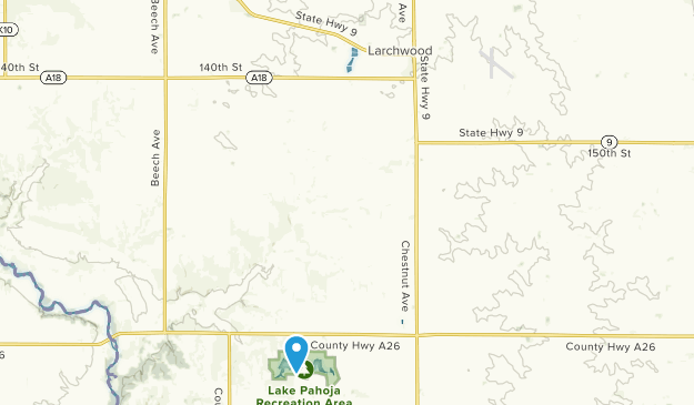 Larchwood, Iowa Map