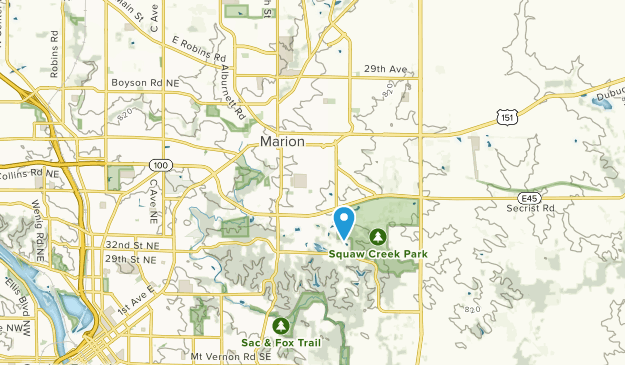 Marion, Iowa Map
