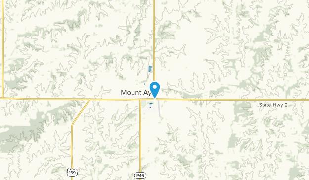 Mt Ayr, Iowa Map