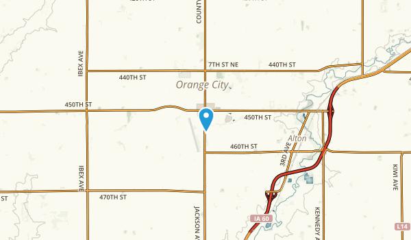 Orange City, Iowa Map