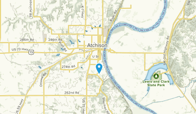 Atchison, Kansas Map