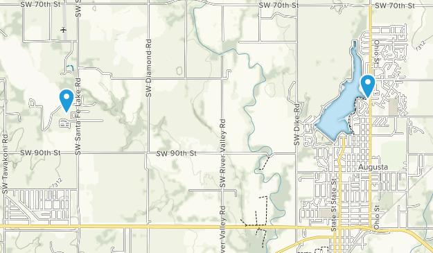 Augusta, Kansas Map