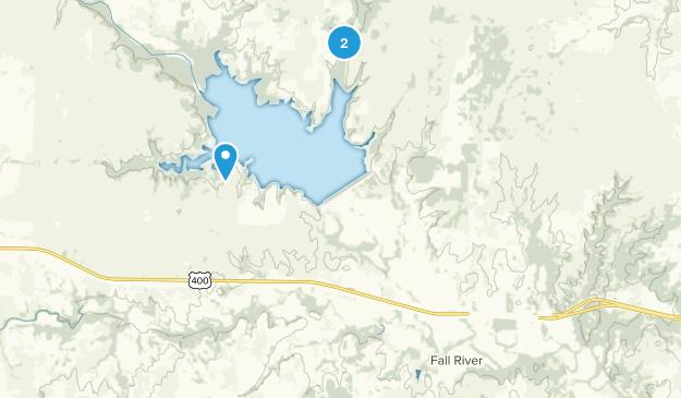 Fall River, Kansas Map