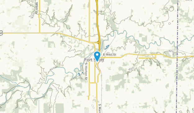 Fort Scott, Kansas Map