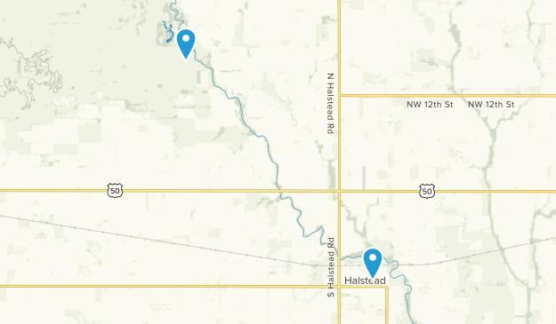 Halstead, Kansas Map