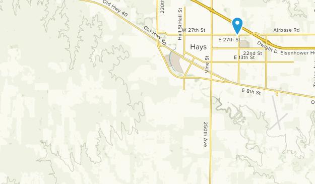Hays, Kansas Map