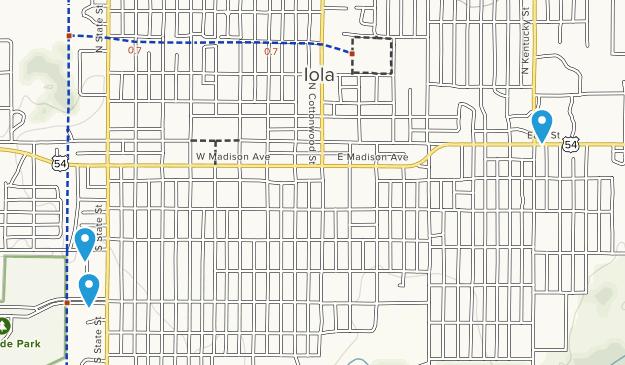 Iola, Kansas Map