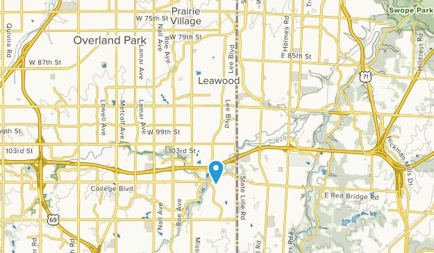 Leawood, Kansas Map
