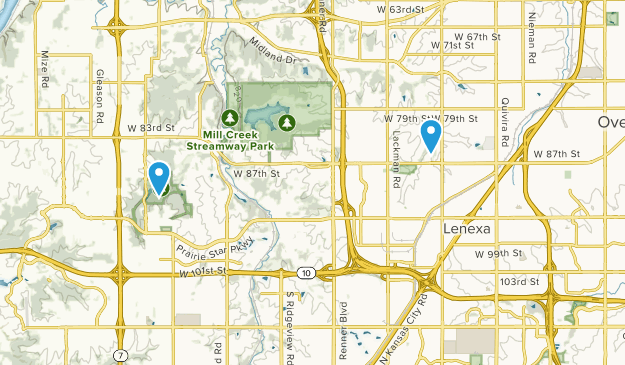 Lenexa, Kansas Map