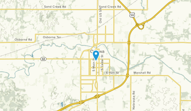 Ottawa, Kansas Map