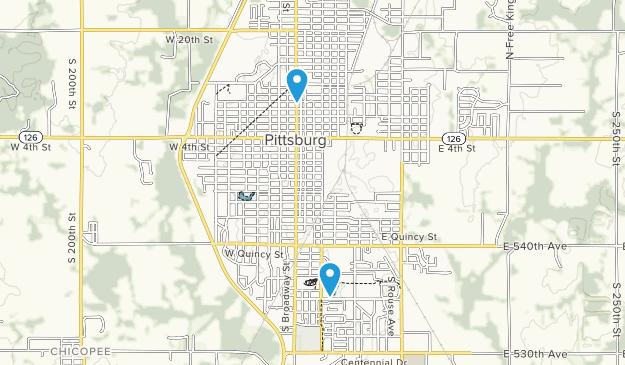Pittsburg, Kansas Map