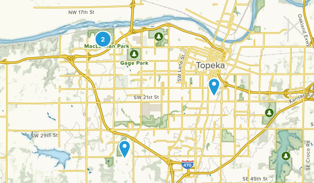 Topeka, Kansas Map