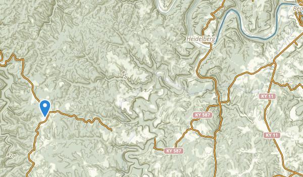 Beattyville, Kentucky Map