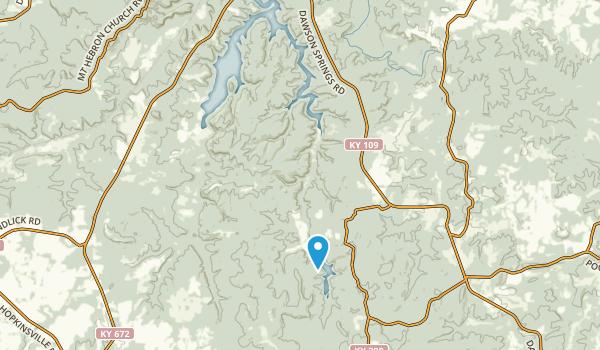 Dawson Springs, Kentucky Map