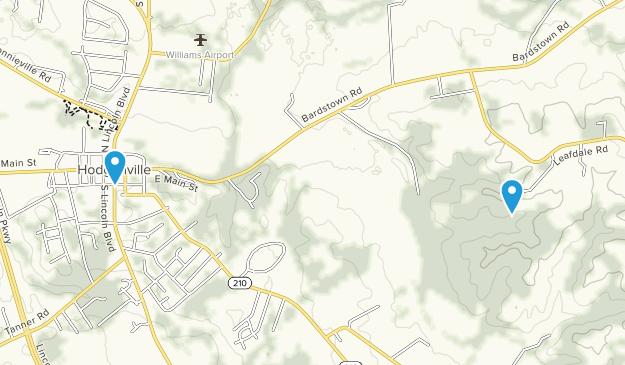 Hodgenville, Kentucky Map