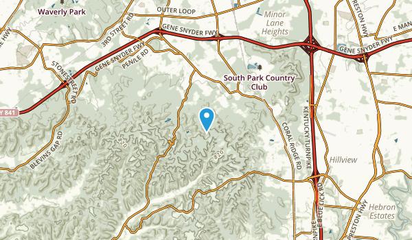 Hollyvilla, Kentucky Map