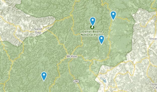 McKee, Kentucky Map