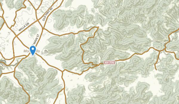 Monticello, Kentucky Map