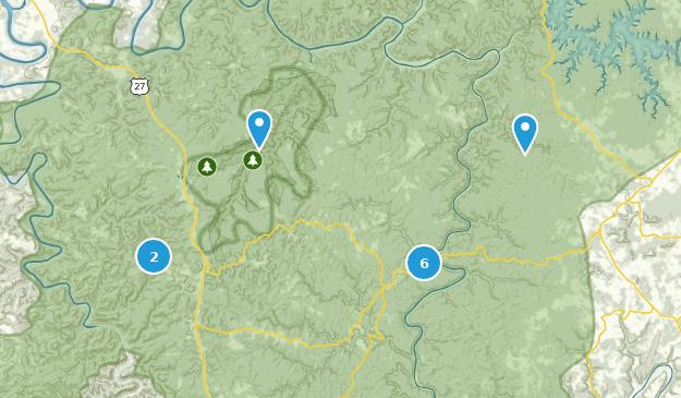 Parkers Lake, Kentucky Map