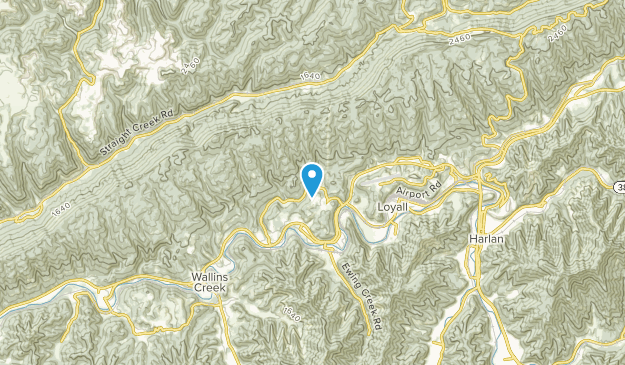 Wallins Creek, Kentucky Map