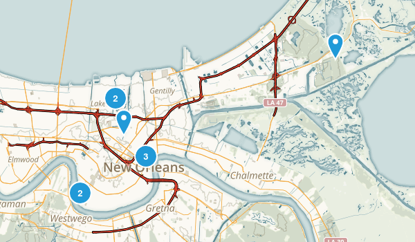 Best Trails Near New Orleans Louisiana Photos Reviews - Map of us new orleans