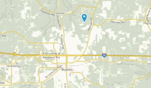 Ruston, Louisiana Map