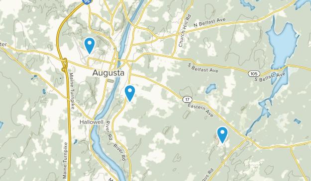Augusta, Maine Map
