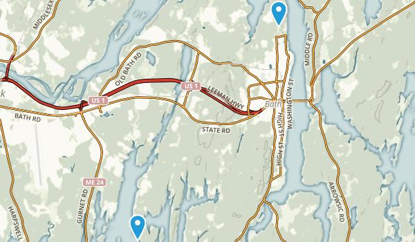 Bath, Maine Map