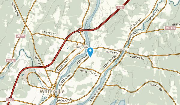 Benton Station, Maine Map