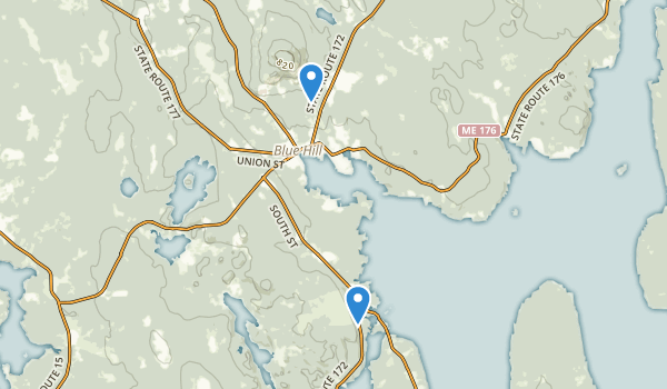 Blue Hill, Maine Map