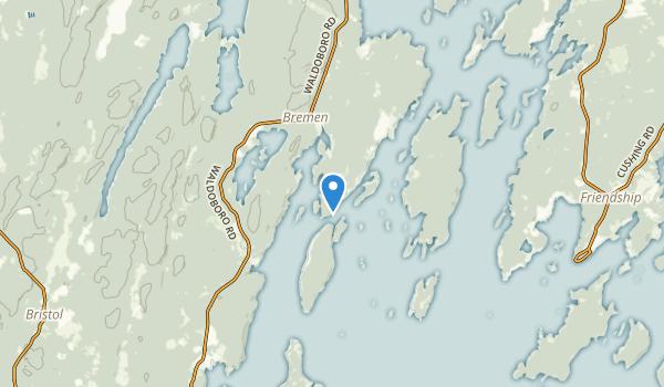 Bremen, Maine Map