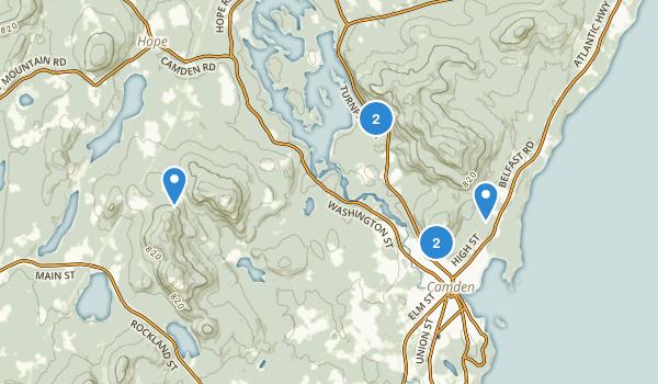 Camden, Maine Map