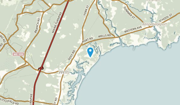 Cozy Corners, Maine Map