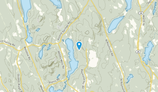 Crescent Lake, Maine Map