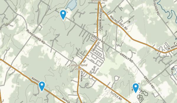 Cumberland, Maine Map
