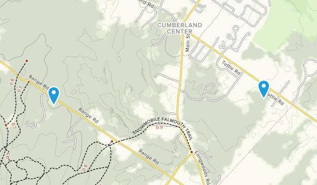 Cumberland Center, Maine Map