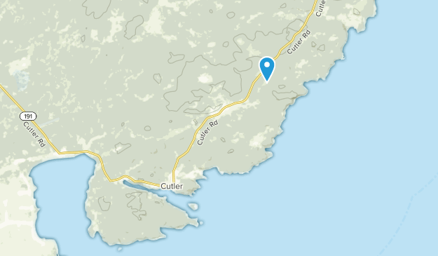 Cutler, Maine Map